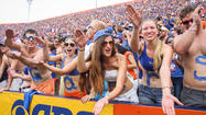 Pictures:  2013 Florida Gators fans, band and cheerleaders