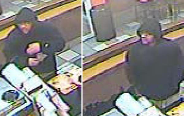 Police are searching for this man in connection with the robbery of a Dunkin' Donuts in Southington Monday night.