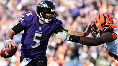 Joe Flacco has thrived while on the run recently