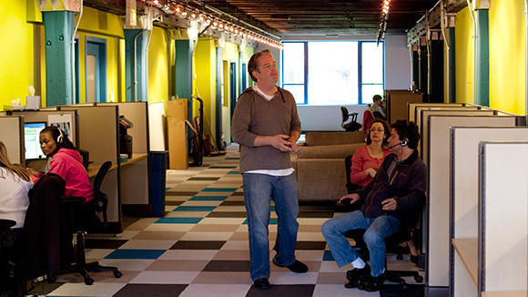 Employees in GoHealth's offices.
