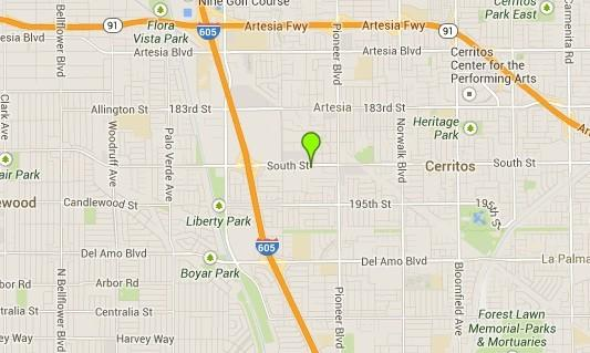 A map shows the approximate location where a 19-year-old boy was shot and killed in Artesia.