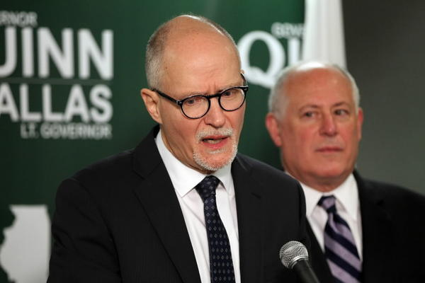Paul Vallas made his debut as Democratic Gov. Pat Quinn's running mate today.