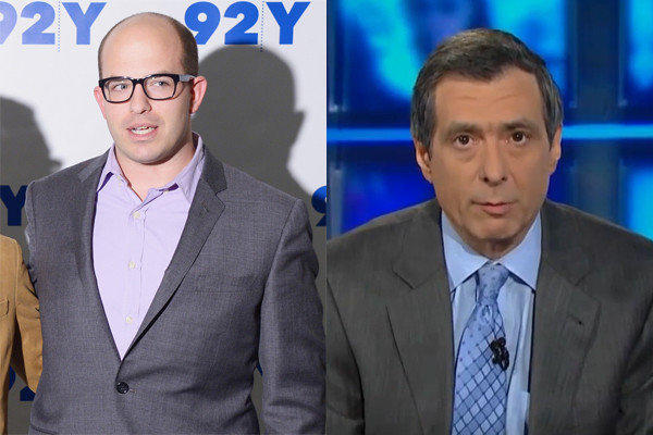 "Reporter Brian Stelter, left, CNN's newest replacement for Howard Kurtz, the former host of ""Reliable Sources."""