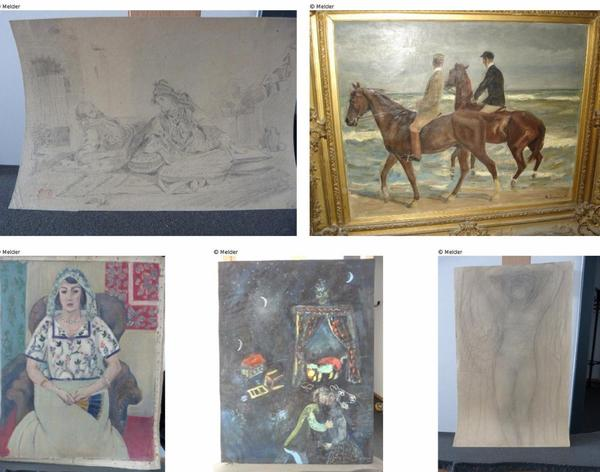 Photos provided on the official website www.lostart.de show five works of art recovered from the apartment of art dealer Cornelius Gurlitt.