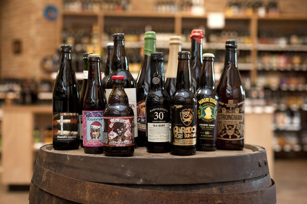 A selection of barrel-aged beers at The Beer Temple in Avondale.