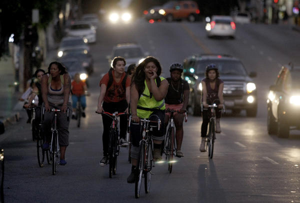 Cyclists in Boyle Heights