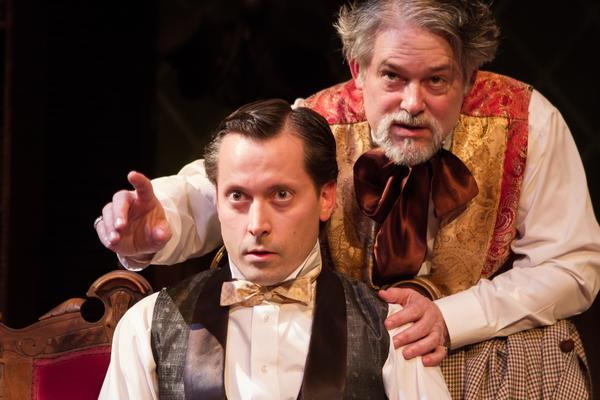 "Daniel J. Roberts, left, portrays a sensitive Lewis Carroll and Bruce Ladd is the bombastic Charles Dickens in ""A Perfect Likeness."""