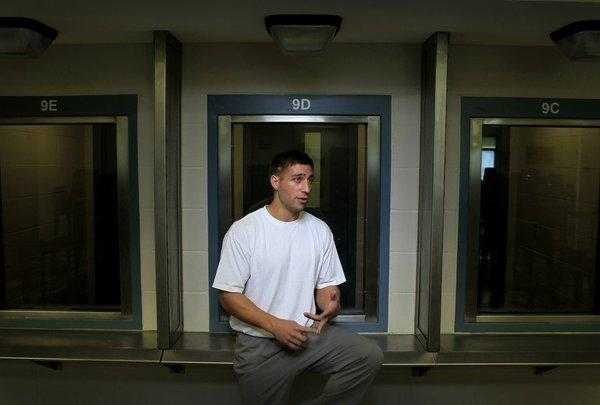 Ryan Ferguson in 2012, while incarcerated at the Missouri State Corrections Prison outside Jefferson City.