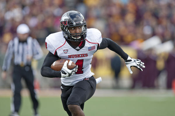 Northern Illinois receiver and Chicago native Da'Ron Brown has seven touchdown catches this season.