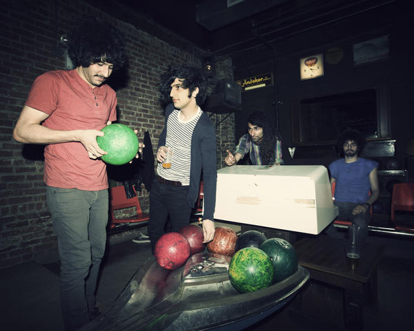 The Iranian band Yellow Dogs appear in a promotional photo in 2012. Soroush Farazmand, 27, far left, and Arash Farazmand, 28, far right, were found dead in their apartment in Brooklyn early Monday morning. Band members Koory Mirzeai, center left, and Siavash Karampour, center right, were not harmed.