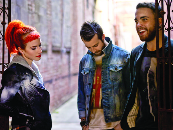 Paramore members: Hayley Williams, Jeremy Davis and Taylor York