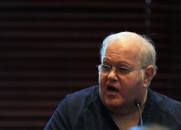 Lou Pearlman testifies in the Davin Smith trial on Wednesday, July 22, 2009, before judge Belvin Perry Jr. at the Orange County Courthouse.