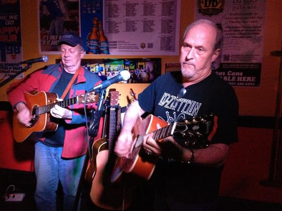 The musical action at Hilton Tavern on Monday nights is mostly acoustic, but also unpredictable.