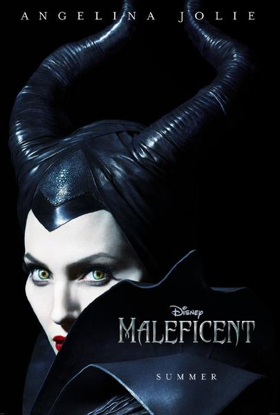 "The poster for ""Maleficent,"" starring Angelina Jolie, has been unveiled. The film is a retelling of the Sleeping Beauty fable from the point of view of the villainess."