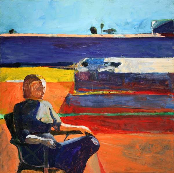 "Richard Diebenkorn's ""Woman on a Porch,"" 1958, oil on canvas."