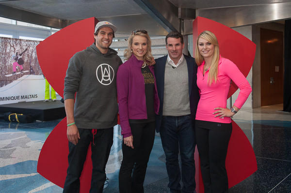 Bobby Brown, Dominique Maltais, Kevin Plank and Lindsey Vonn unveil the new campaign.