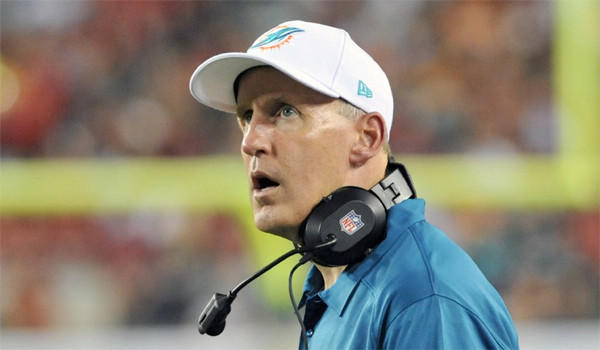 Dolphins Coach Joe Philbin looks up at the scoreboard during Miami's 22-19 loss to the Tampa Bay Buccaneers on Monday.