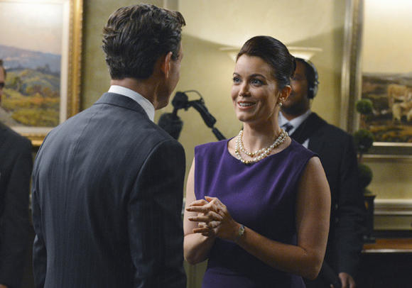 Bellamy Young and Tony Goldwyn