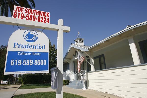 A home for sale in 2007 in La Mesa.