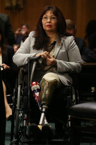 U.S. Rep. Tammy Duckworth (D-IL) testifies during a Senate Foreign Relations Committee on the Convention on the Rights of Persons with Disabilities on Capitol Hill in Washington, DC.