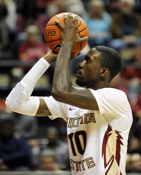 Florida State Seminoles forward Okaro White takes a free throw .