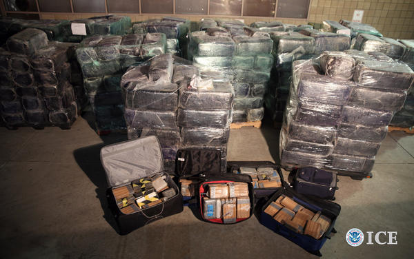 More than eight tons of marijuana and cocaine seized from a tunnel designed to smuggle drugs from Tijuana, Mexico, to San Diego.