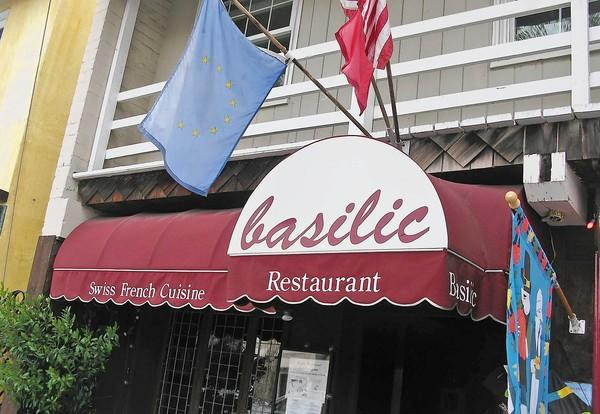 Basilic Restaurant on Marine Avenue on Balboa Island.