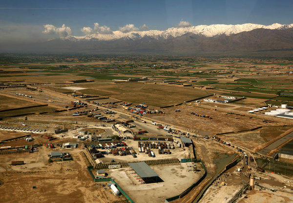 A blacklisted Afghan contractor allegedly was allowed access to the American-run prison next to Bagram Air Field, above, for two days in November 2012.