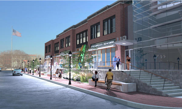 A proposal to redevelop 110 Compromise Street Annapolis, as depicted in this rendering, is reportedly off the table after the potential buyer decided recent to scrap plans to buy the site.