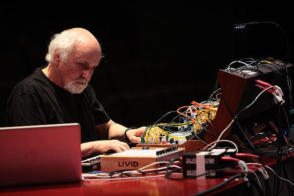 "Morton Subotnick performs ""From 'Silver Apples to the Moon' to 'A Sky of Cloudless Sulphur' IV: Lucy"""