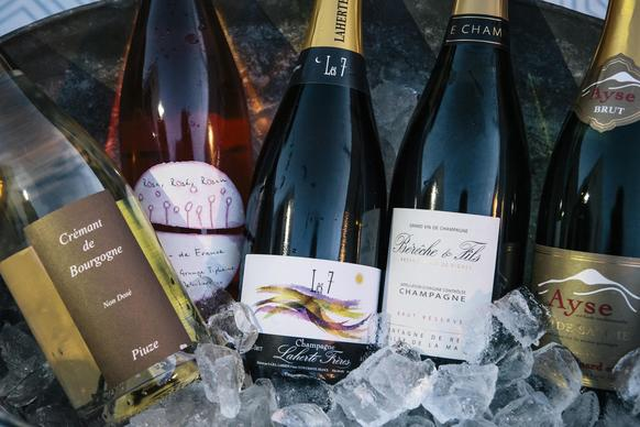 Jill Bernheimer, owner of the wine and spirits store Domaine LA, rolls out her favorites - Champagnes, Crémants de Bourgogne and more - for her