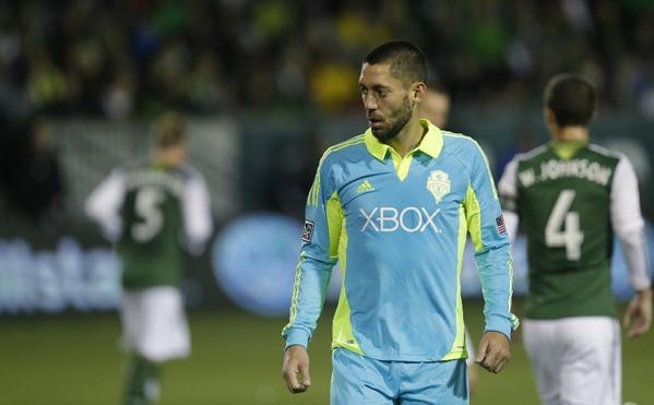 Clint Dempsey strained his right calf during training and will sit out U.S. soccer's final two matches of the year.