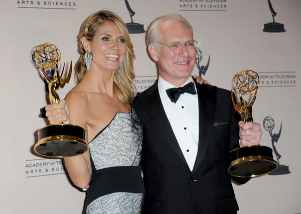 "At the Emmys in September, Heidi Klum and Tim Gunn posed backstage with their awards for outstanding host for a reality or reality-competition program for ""Project Runway."" Gunn's TV presence will soon expand to include a new reality competition show to be seen on Lifetime."
