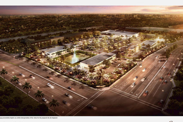 fl-cooper-city-walmart- Rendering of the proposed Pine Island Marketplace at Pine Island and Stirling roads. -Handout photo provided by: Gatlin Development Company
