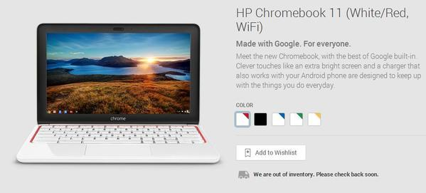 Google and HP have stopped sales of the HP Chromebook 11 after receiving reports from customers about problems with the laptop's charger.