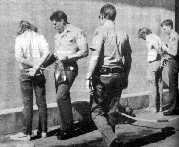 Armed with arrest warrants, sheriffs deputies swept down on La Caada High School on a Thursday morning in November 1983 in a surprise raid that concluded five days later with 30 arrests including 17 LCHS students and two who attended the local continuation high school.