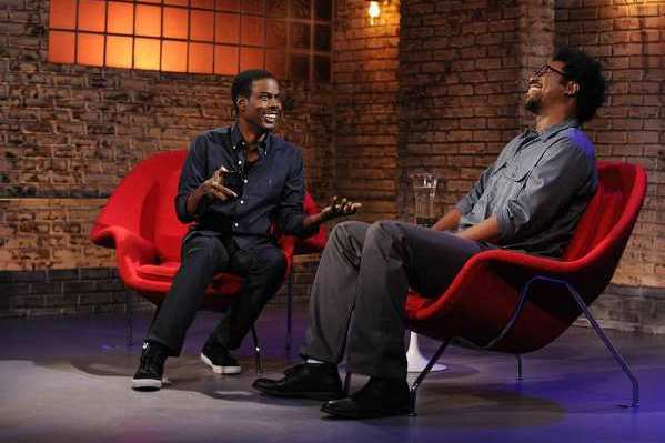 "Chris Rock, left, and W. Kamau Bell appear on ""Totally Biased with W. Kamau Bell."""