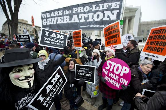 Abortion rights proponents and opponents