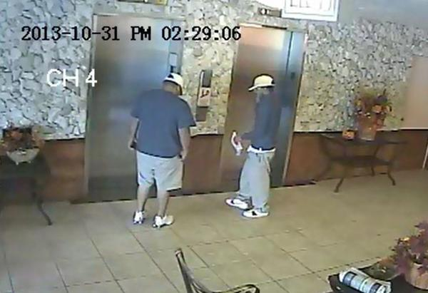 Broward Sheriff detectives are searching for two suspected distraction thieves who posed as utility workers to rob an 88-year-old Pompano Beach woman of $75,000 in jewelry and cash on Halloween