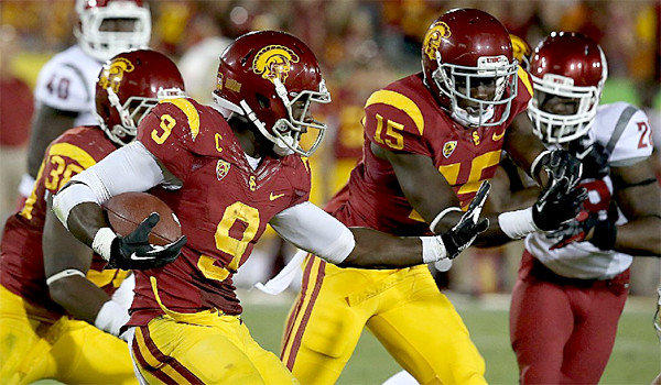 USC wide receiver Marqise Lee was held to 27 yards on seven receptions during the Trojans' 10-7 loss to Washington State on Sept. 7.
