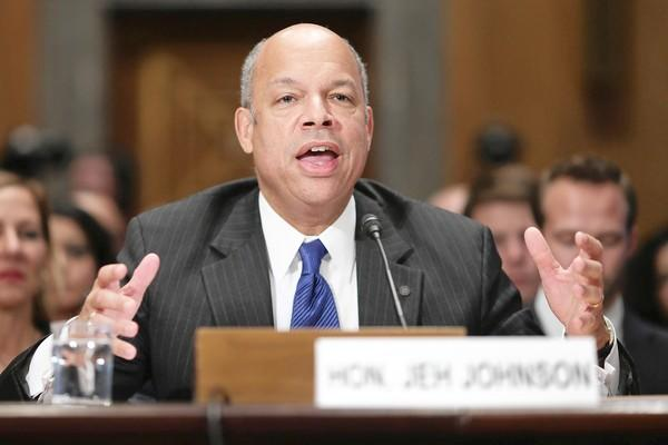 Jeh Johnson, a former top Pentagon lawyer nominated to become Homeland Security secretary, testifies at his confirmation hearing before the Senate Homeland Security and Governmental Affairs Committee. A vote by the full Senate is expected by the end of the year.