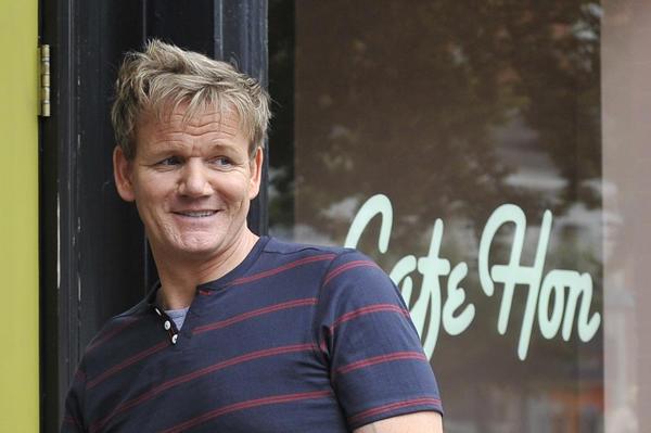 "Gordon Ramsay, host of ""Kitchen Nightmares,"" at Cafe Hon in Hampden."