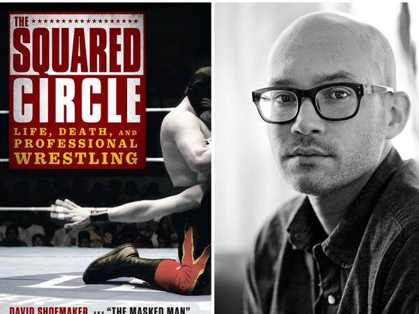 "The cover of ""The Squared Circle"" and author David Shoemaker."
