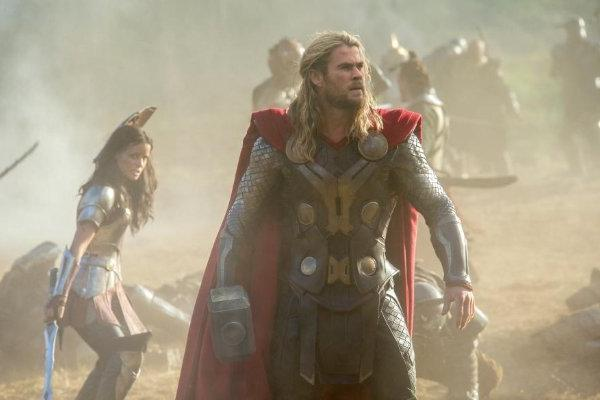 "Chris Hemsworth stars in ""Thor: The Dark World,"" which is expected to be the No. 1 film at the box office this weekend."