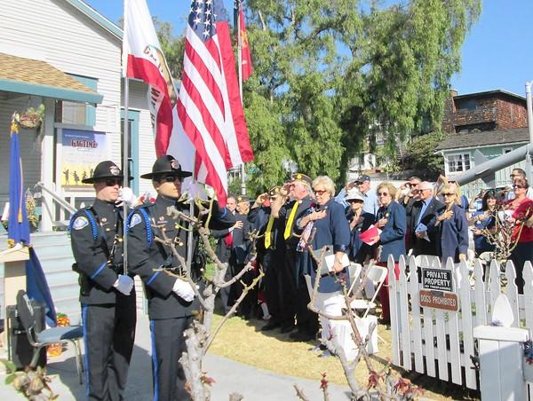 The Veterans and Ladies Auxiliary of the Laguna Beach American Legion hold a Veterans Day Celebration on Monday at their Legion Post 222.