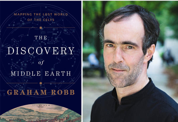 "The cover of the book, ""The Discover of Middle Earth"" and author Graham Robb."