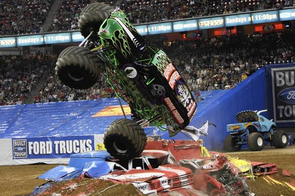 Photo courtesy of Monster Jam Grave Digger, based in northeastern North Carolina, is one of the region's most popular monster trucks.