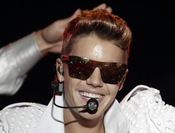 Justin Bieber performs earlier this month in Paraguay.