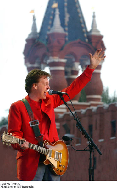 Former Beatle Paul McCartney performs at Moscow's Red Square in 2003.