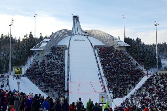 The Holmenkollen ski jump.  (Ragnar Singsaas/Getty Images)